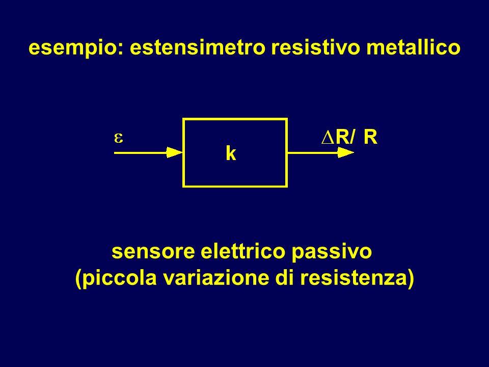 sensore elettrico passivo (piccola variazione di resistenza)