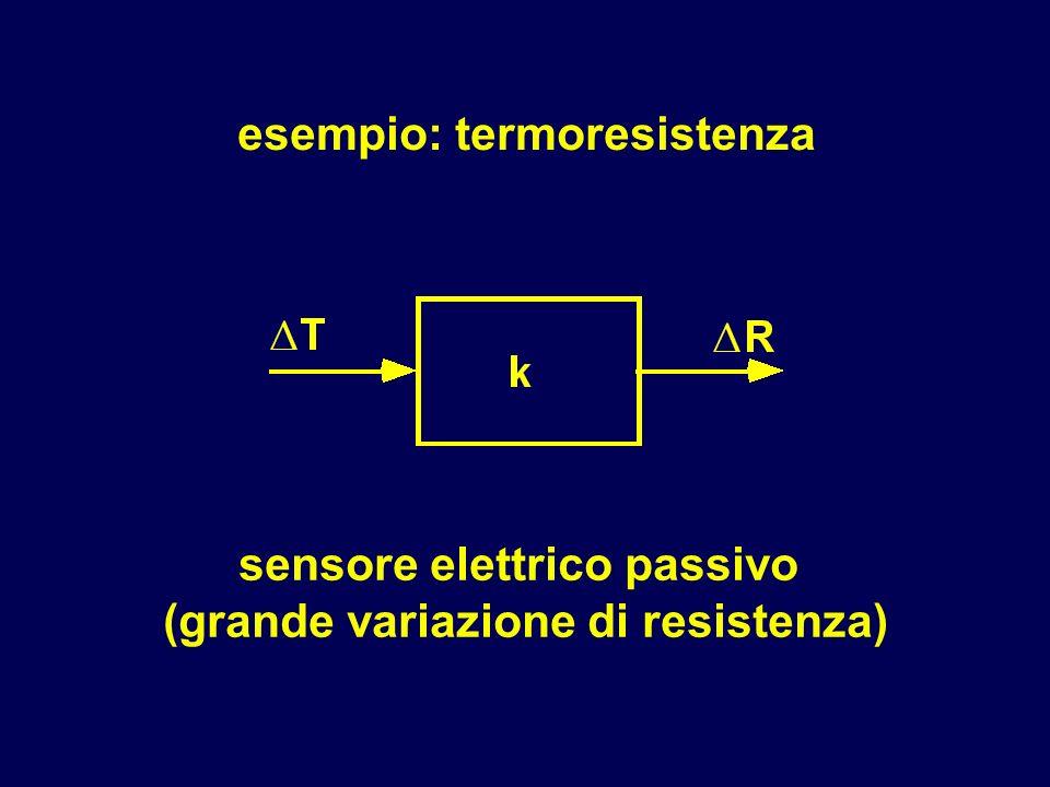 sensore elettrico passivo (grande variazione di resistenza)