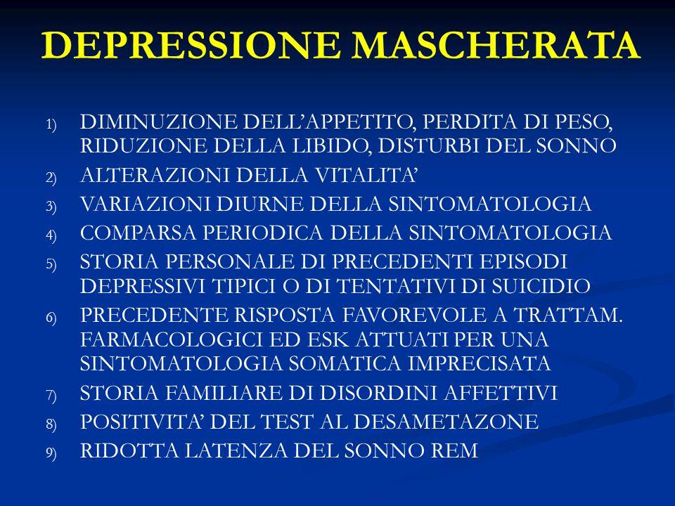 DEPRESSIONE MASCHERATA
