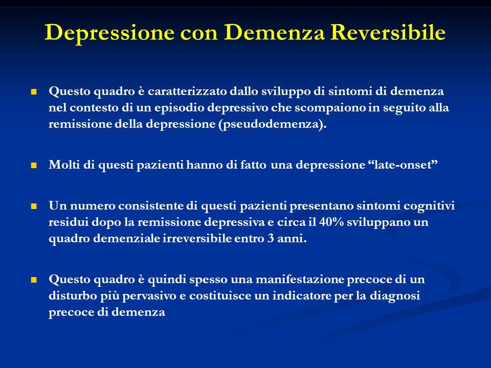 Depressione con Demenza Reversibile