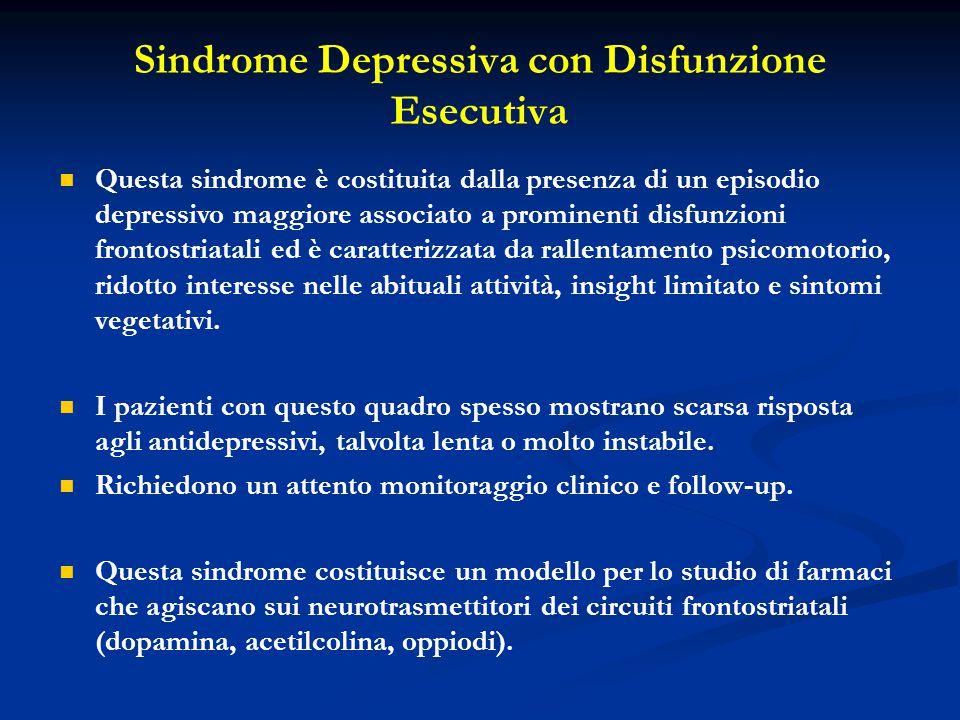 Sindrome Depressiva con Disfunzione Esecutiva