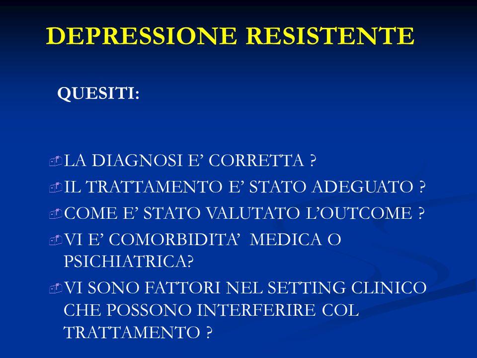 DEPRESSIONE RESISTENTE