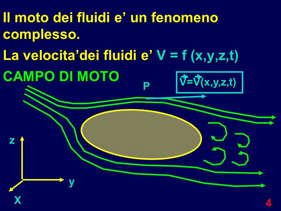 Il moto dei fluidi e' un fenomeno complesso.