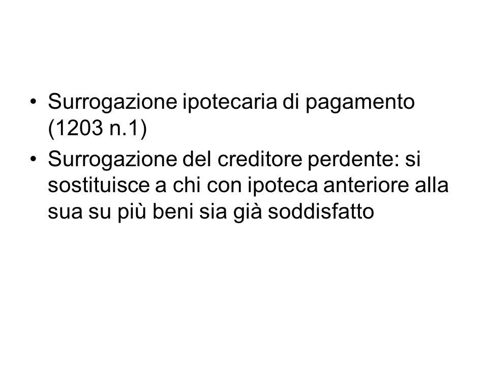 Surrogazione ipotecaria di pagamento (1203 n.1)