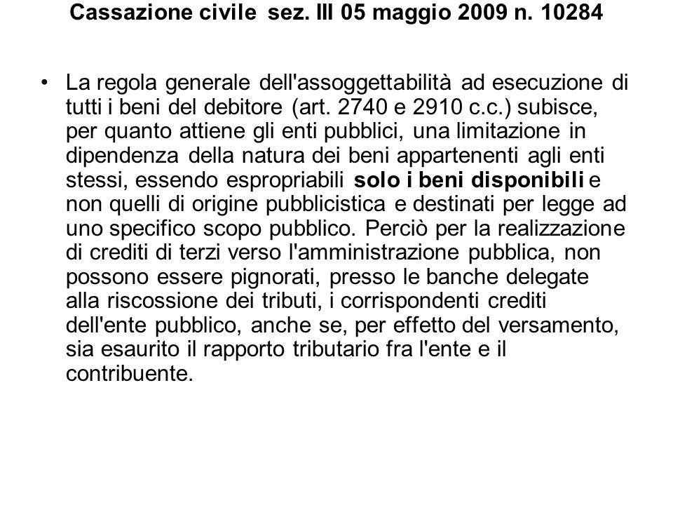 Cassazione civile sez. III 05 maggio 2009 n. 10284