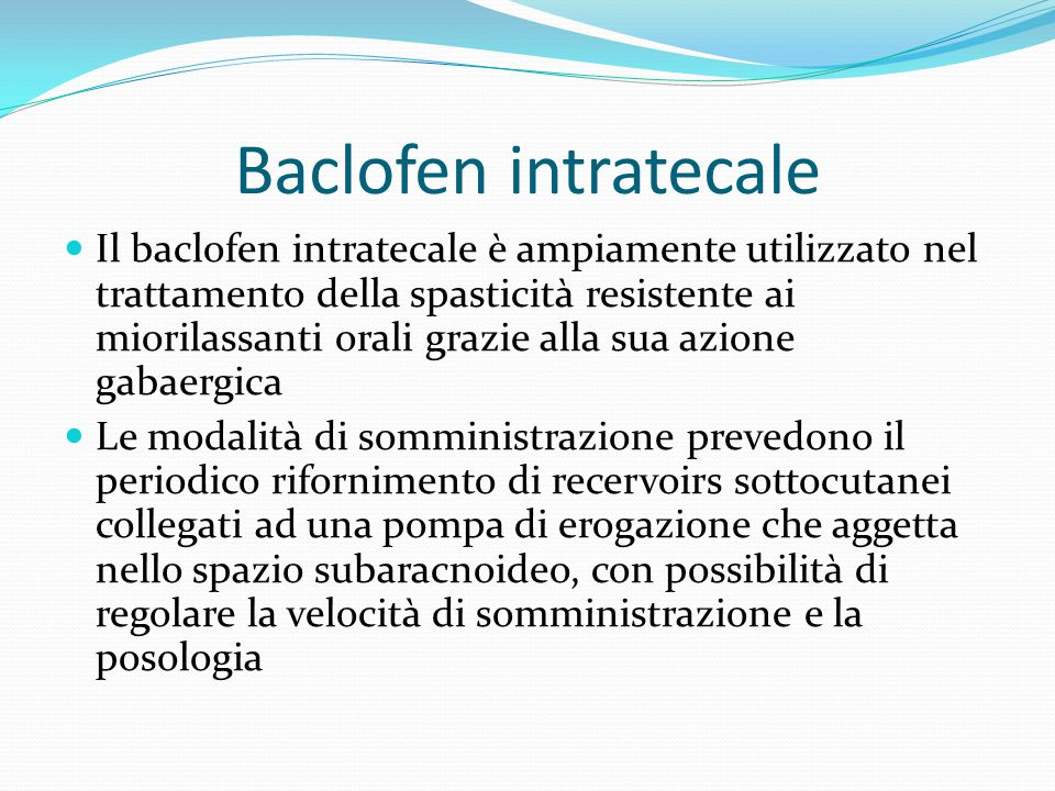 Baclofen intratecale