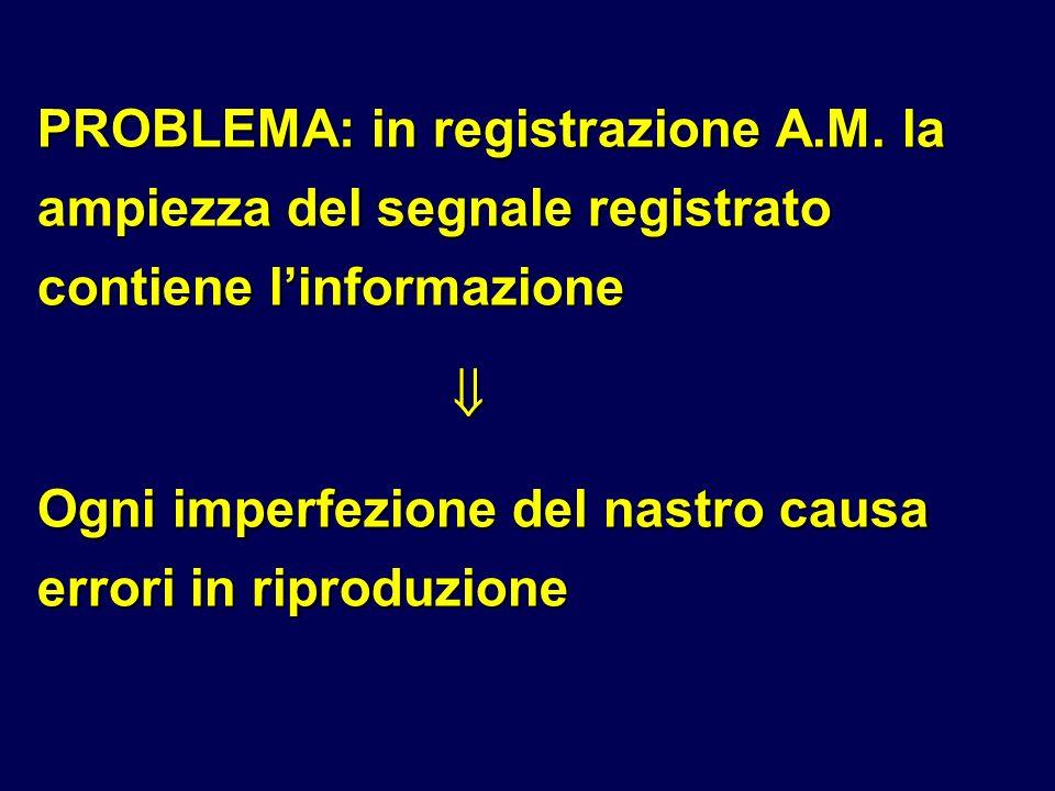 PROBLEMA: in registrazione A. M