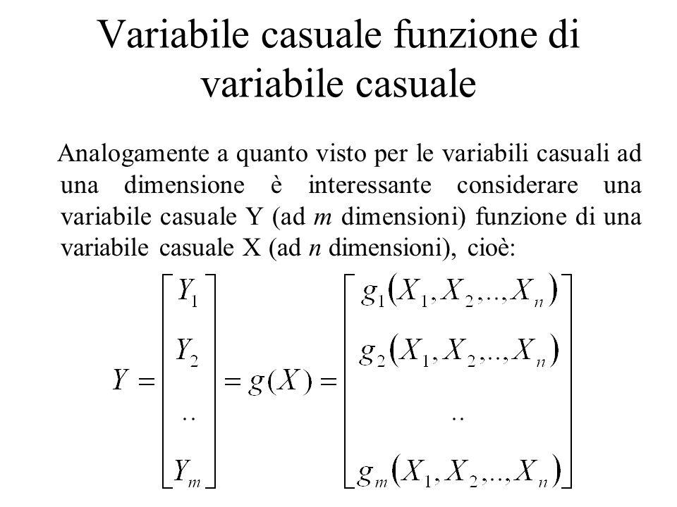 Variabile casuale funzione di variabile casuale