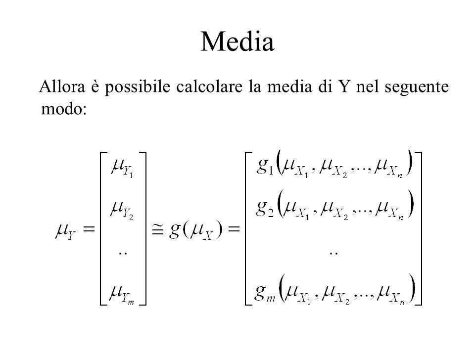 Media Allora è possibile calcolare la media di Y nel seguente modo: