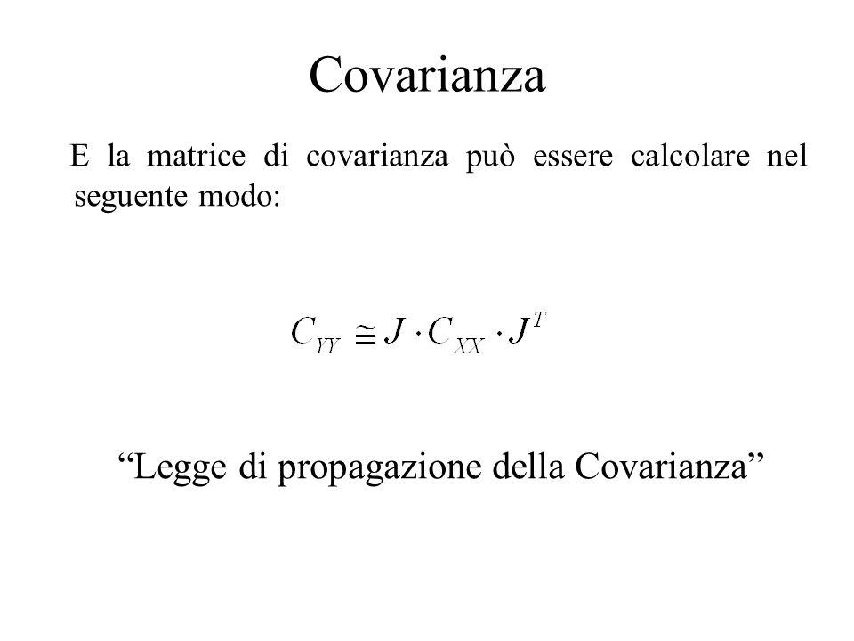 Covarianza Legge di propagazione della Covarianza