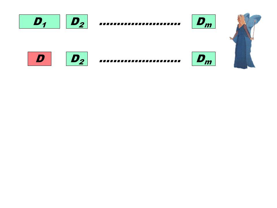D1 D2 ………………….. Dm D2 Dm ………………….. D