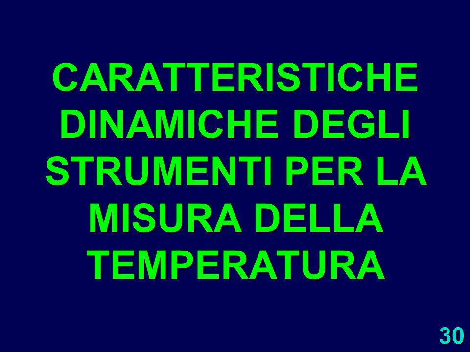 CARATTERISTICHE DINAMICHE DEGLI STRUMENTI PER LA MISURA DELLA TEMPERATURA