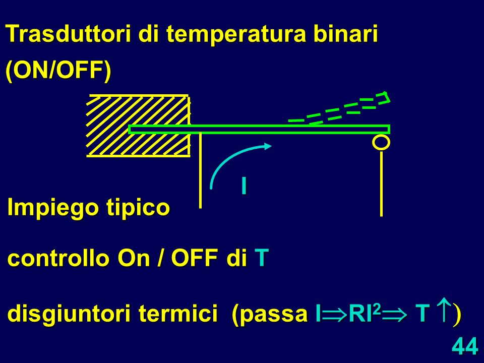 Trasduttori di temperatura binari (ON/OFF)
