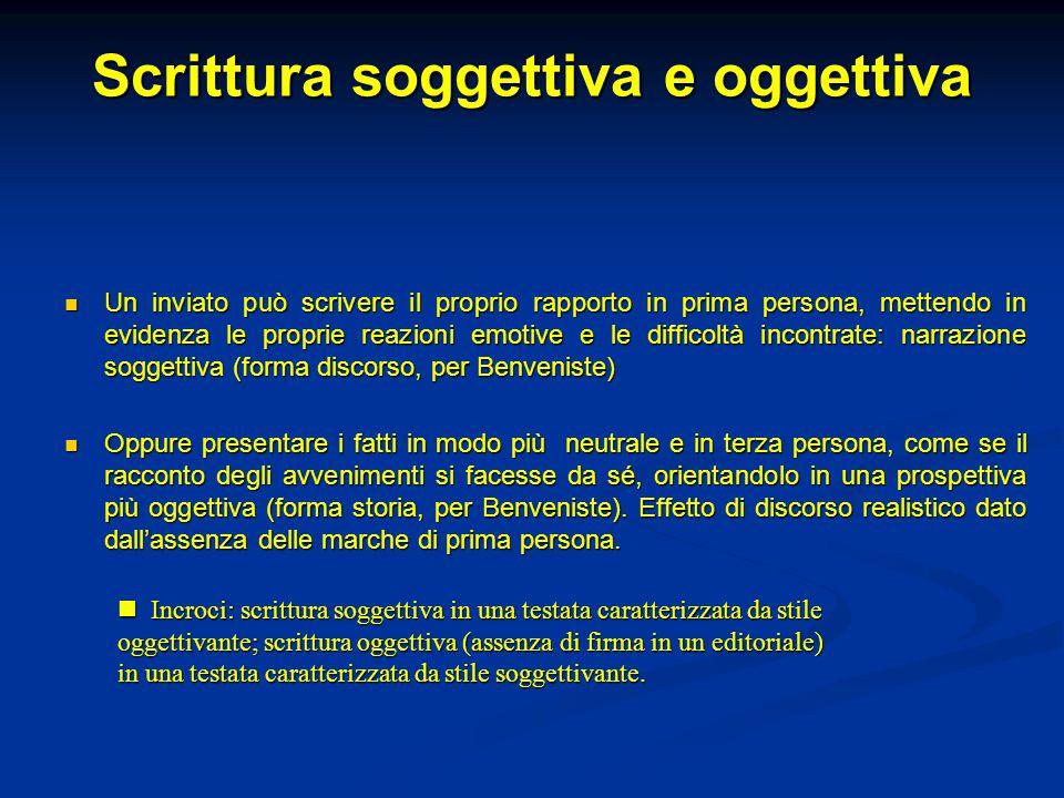 Scrittura soggettiva e oggettiva