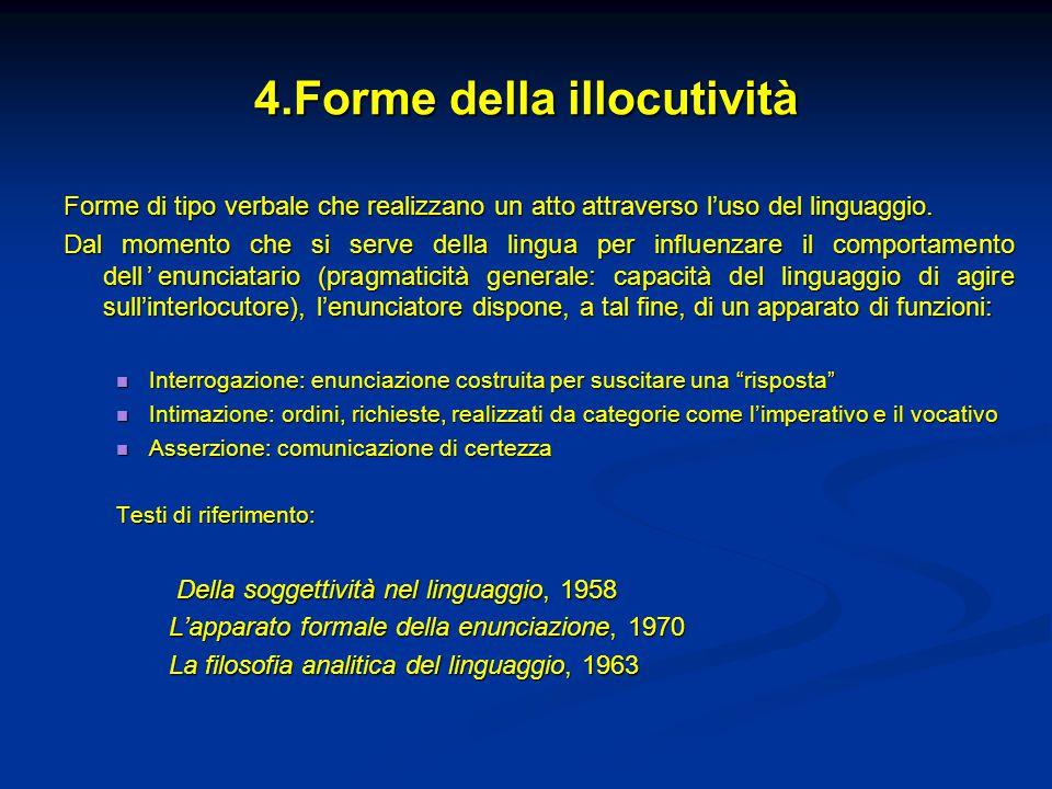 4.Forme della illocutività