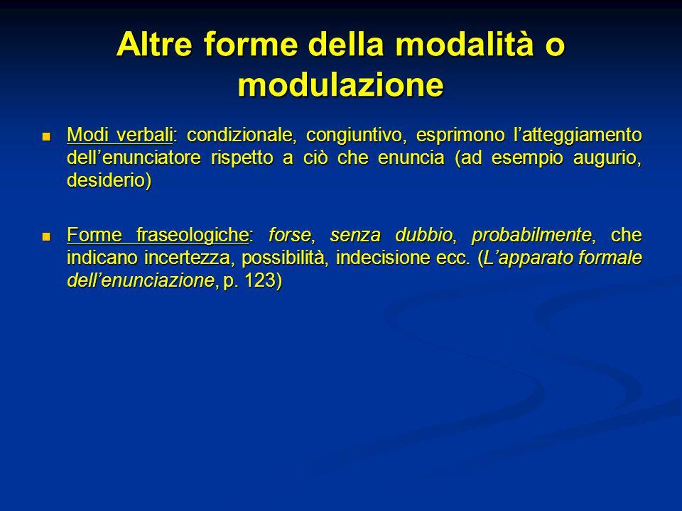 Altre forme della modalità o modulazione