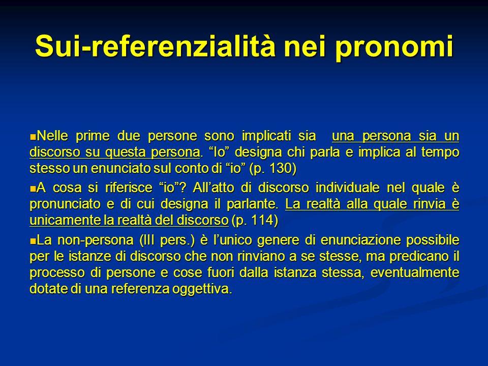 Sui-referenzialità nei pronomi