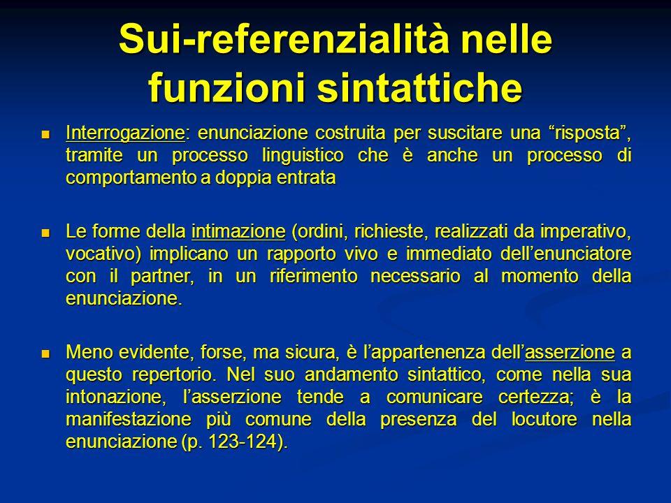 Sui-referenzialità nelle funzioni sintattiche
