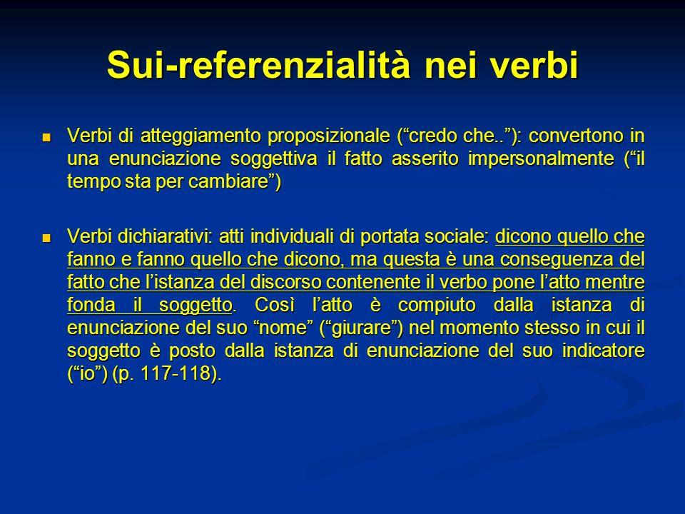 Sui-referenzialità nei verbi