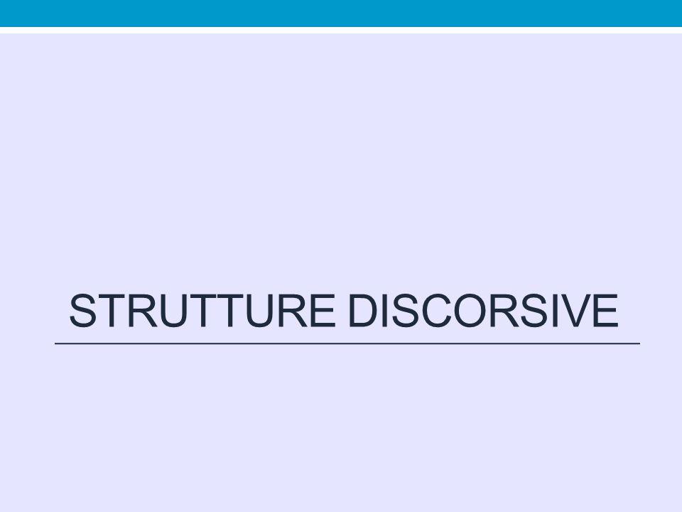 Strutture discorsive