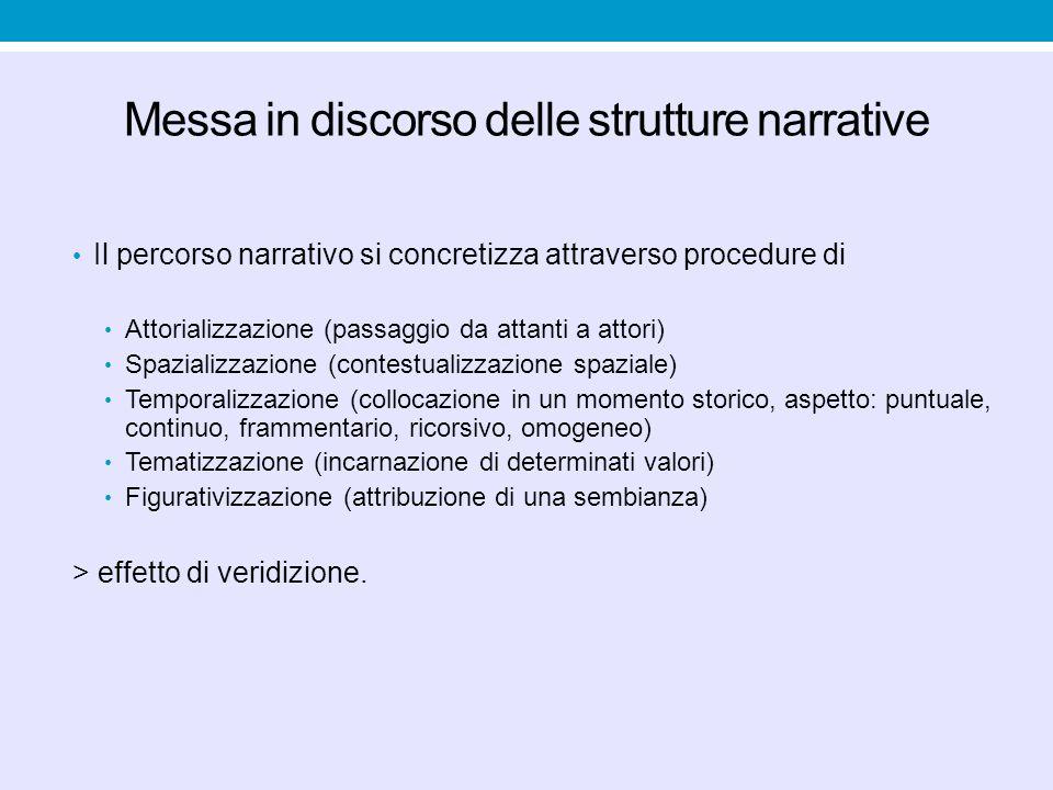 Messa in discorso delle strutture narrative