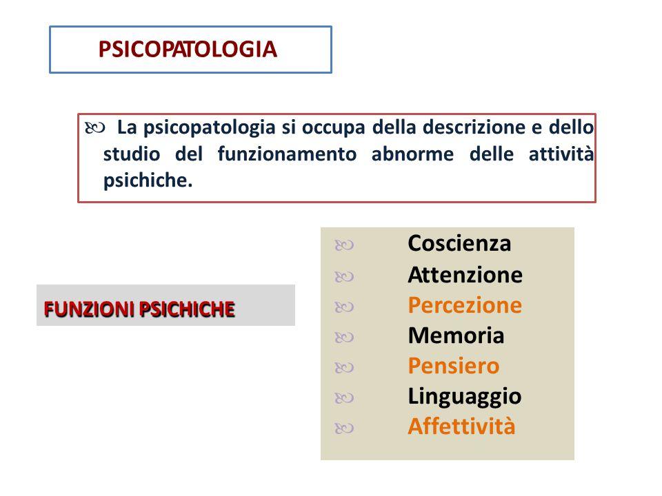  Attenzione  Percezione  Memoria  Pensiero  Linguaggio