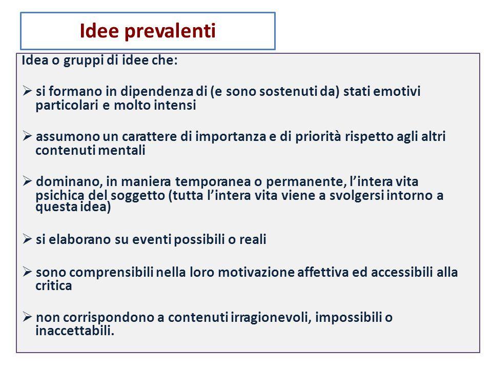 Idea o gruppi di idee che: