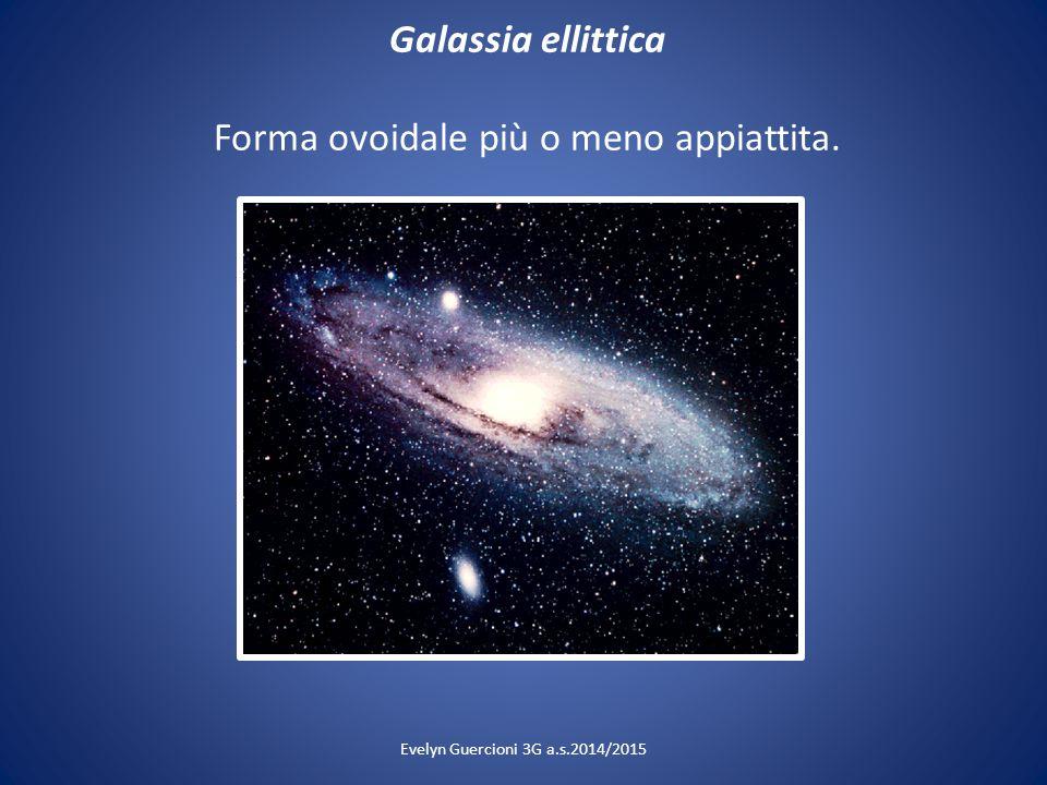 Galassia ellittica Forma ovoidale più o meno appiattita.