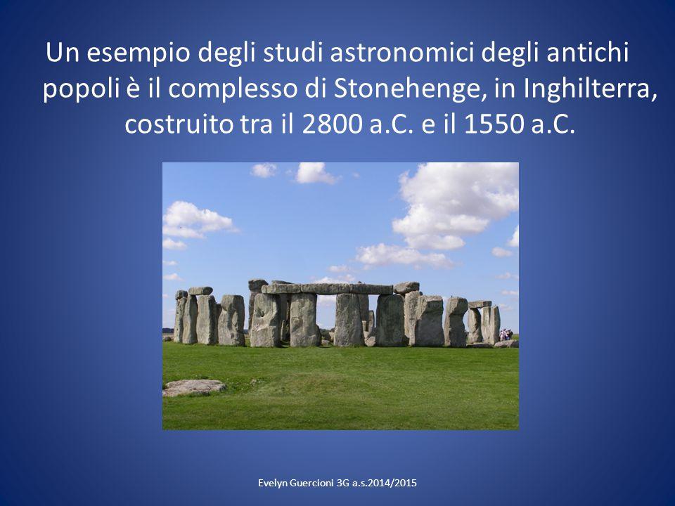 Un esempio degli studi astronomici degli antichi popoli è il complesso di Stonehenge, in Inghilterra, costruito tra il 2800 a.C. e il 1550 a.C.