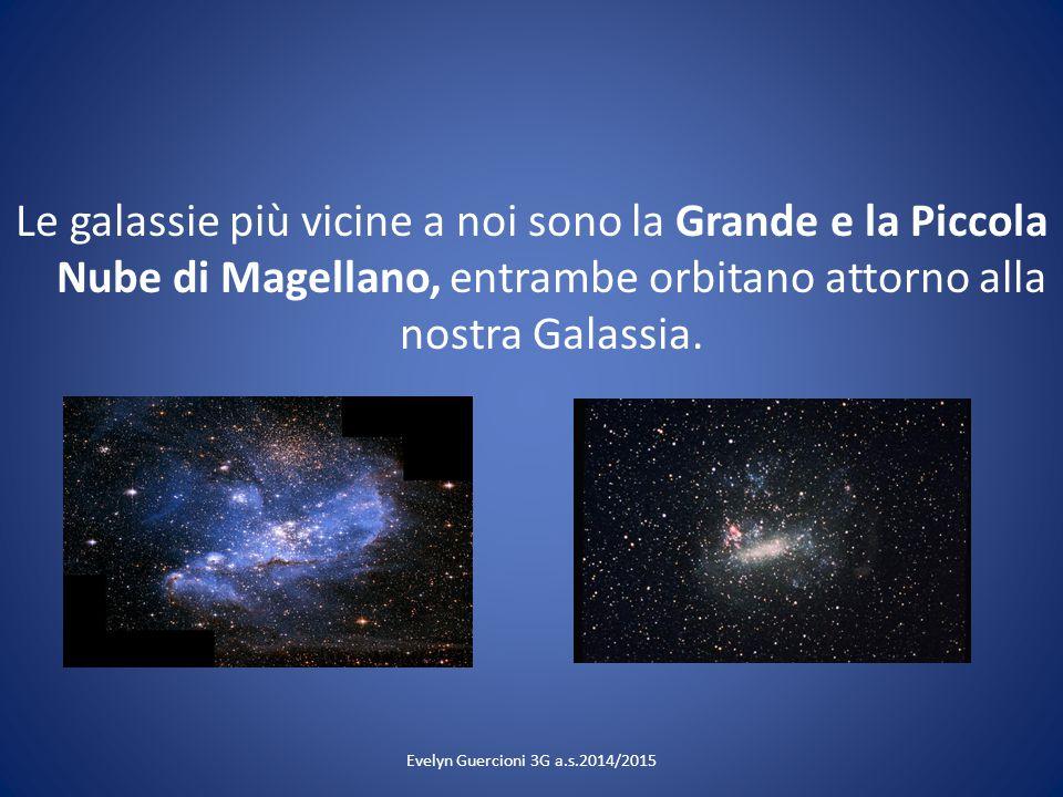 Le galassie più vicine a noi sono la Grande e la Piccola Nube di Magellano, entrambe orbitano attorno alla nostra Galassia.