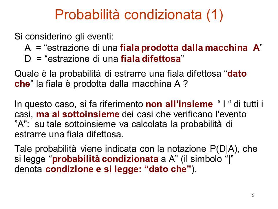 Probabilità condizionata (1)