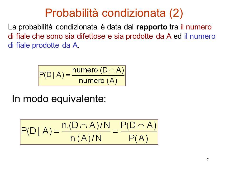 Probabilità condizionata (2)