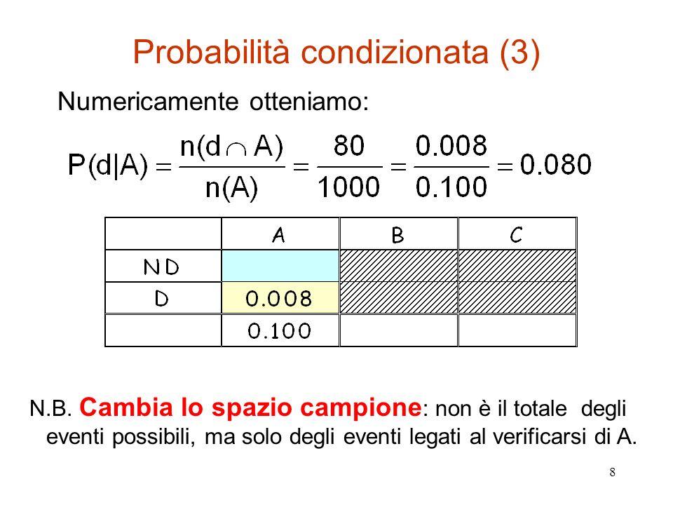 Probabilità condizionata (3)