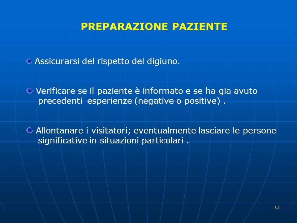 PREPARAZIONE PAZIENTE