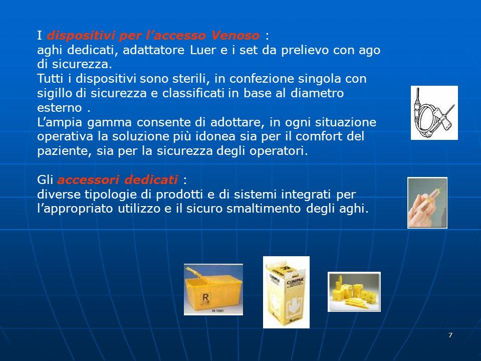 I dispositivi per l'accesso Venoso : aghi dedicati, adattatore Luer e i set da prelievo con ago