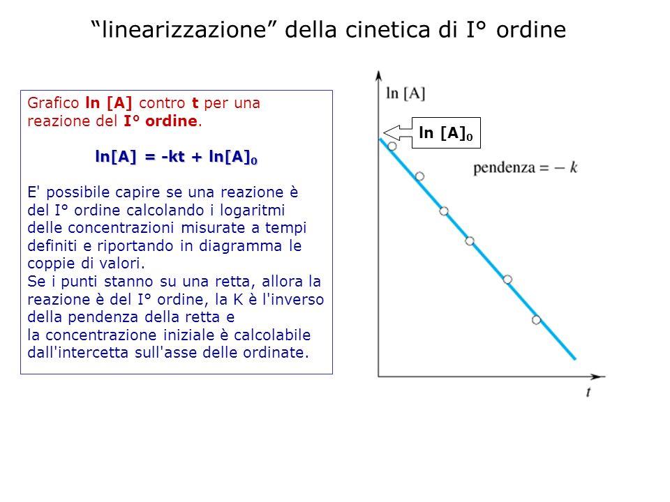 linearizzazione della cinetica di I° ordine