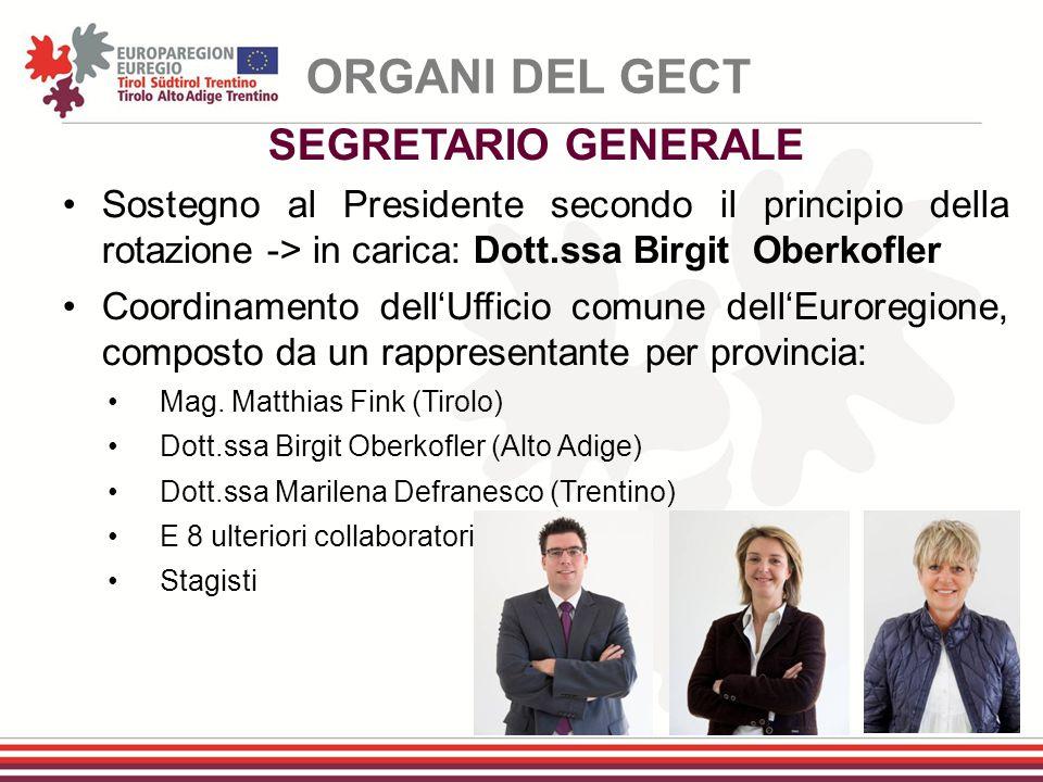 ORGANI DEL GECT SEGRETARIO GENERALE