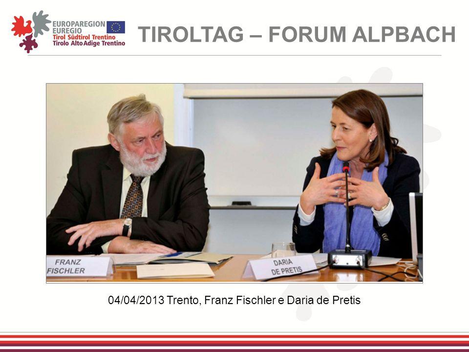 04/04/2013 Trento, Franz Fischler e Daria de Pretis