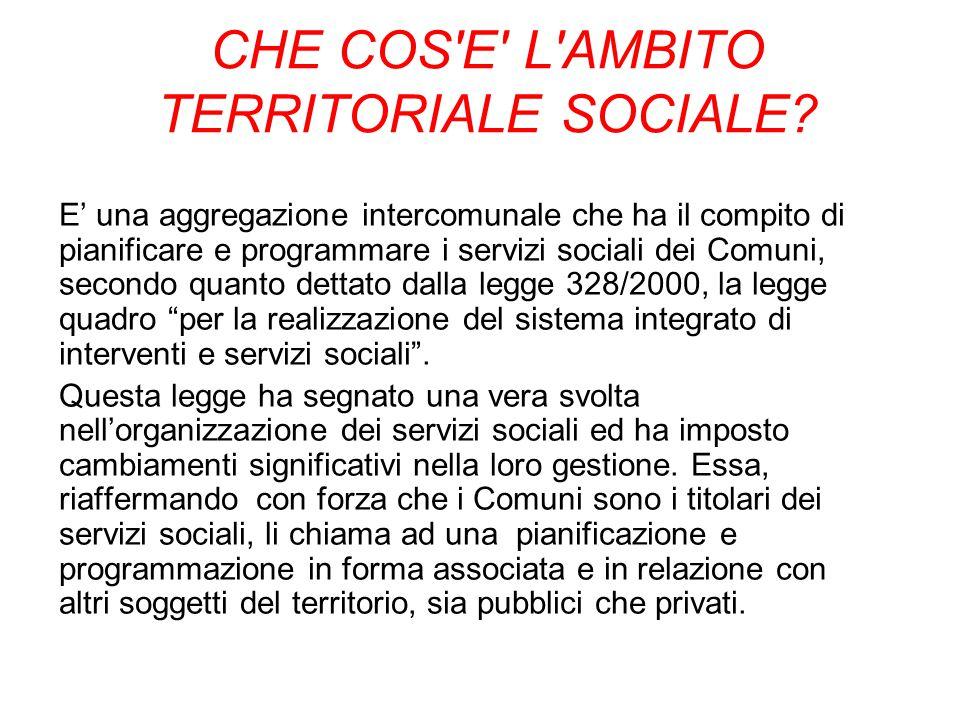 CHE COS E L AMBITO TERRITORIALE SOCIALE