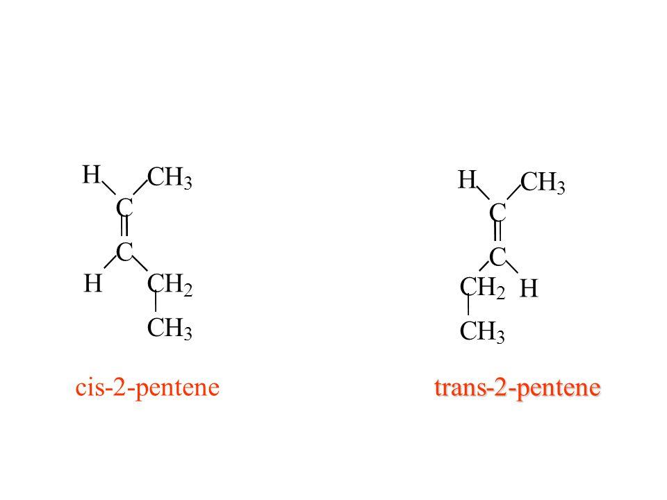 C H 3 2 C H 3 2 cis -2- pentene trans -2- pentene