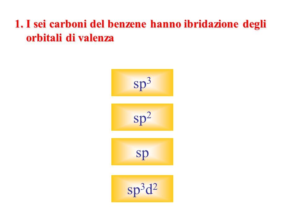 sp3 sp2 sp sp3d2 1. I sei carboni del benzene hanno ibridazione degli
