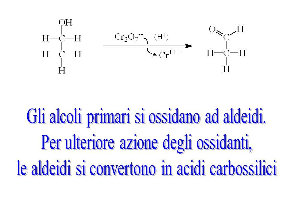 Gli alcoli primari si ossidano ad aldeidi.