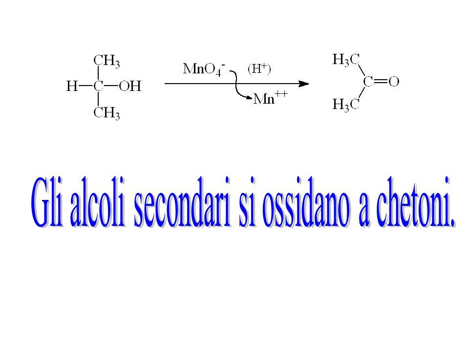 Gli alcoli secondari si ossidano a chetoni.