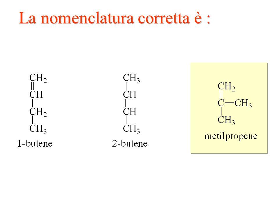 La nomenclatura corretta è :