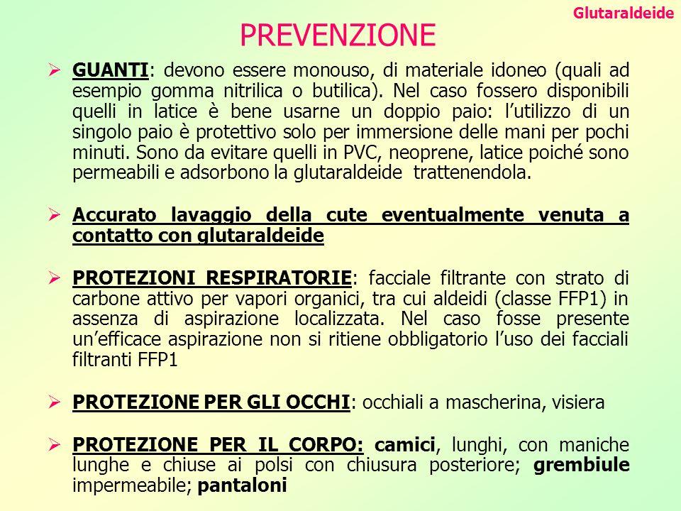 Glutaraldeide PREVENZIONE.