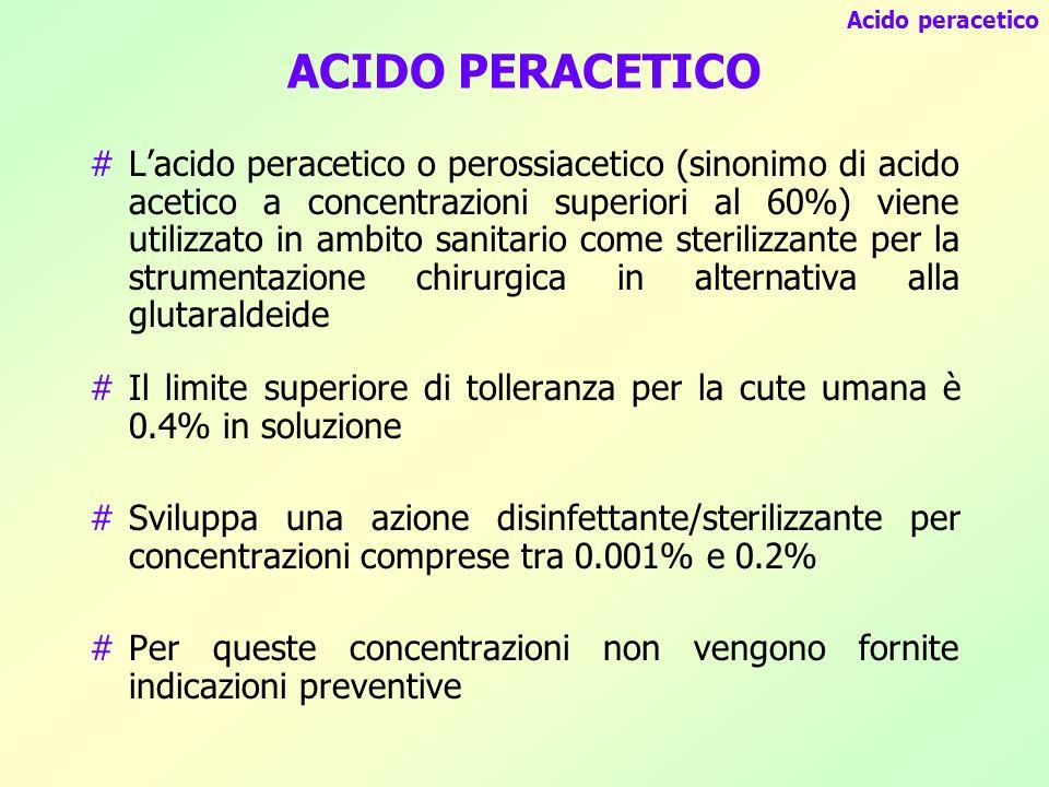 Acido peracetico ACIDO PERACETICO.