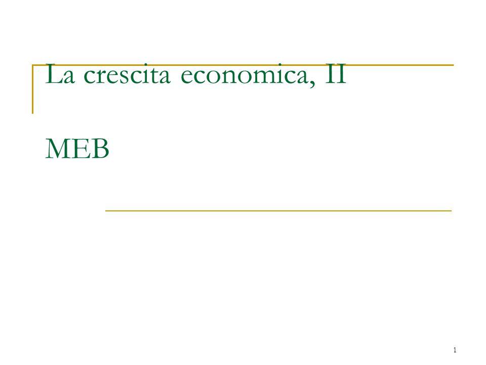 La crescita economica, II