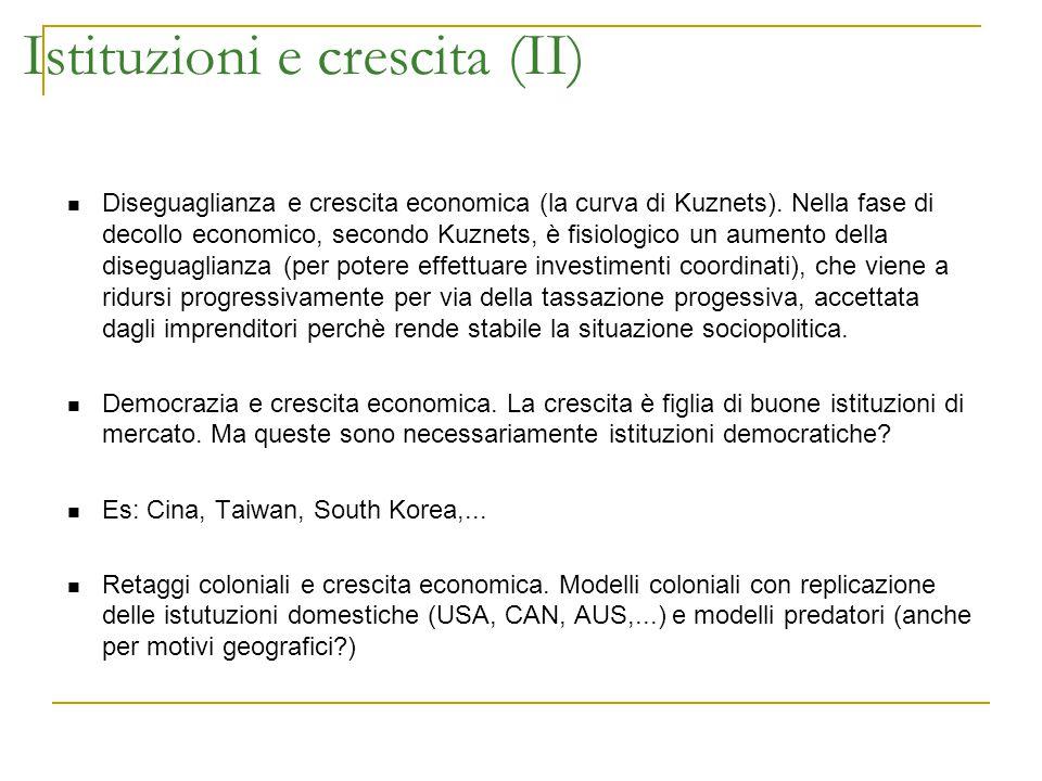 Istituzioni e crescita (II)