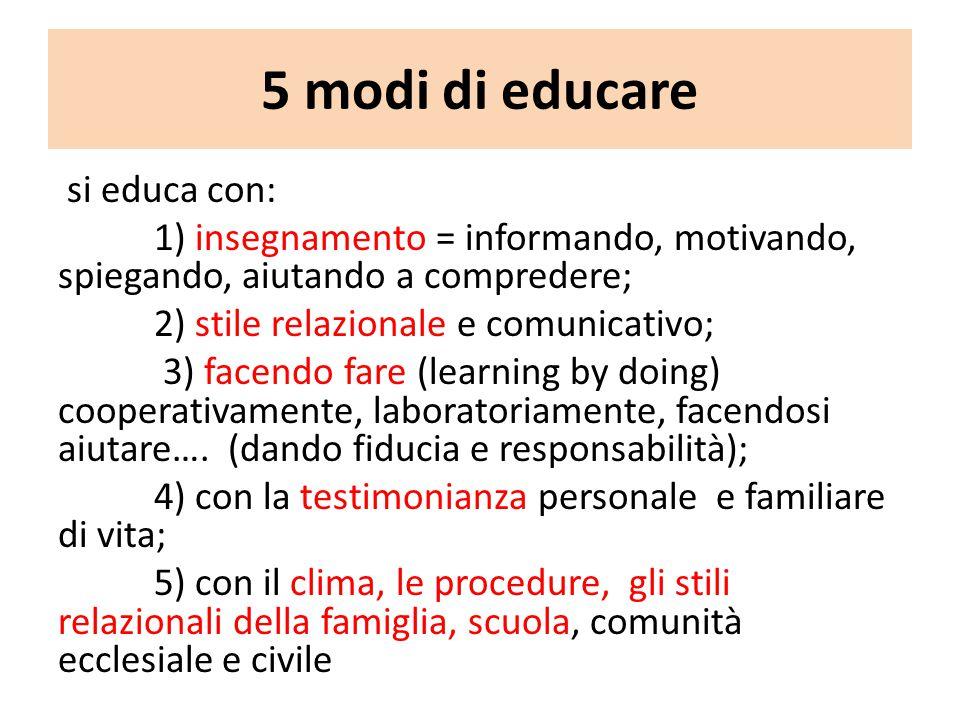 5 modi di educare