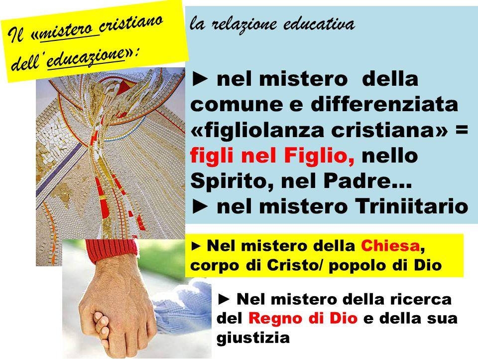 la relazione educativa Il «mistero cristiano dell'educazione»: